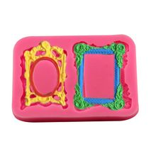 European mirror photo frame modeling liquid silicone cake mold fondant mold modeling chocolate shaping tools soap mold