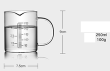 Children's glass milk cup Microwave heated glass cup measuring cup with scale D45 D46 D47