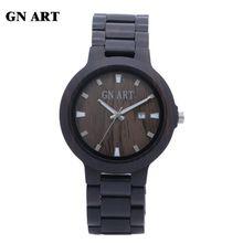 GNART039 Bamboo woodl Wooden Mens Quartz Watches Fashion Natural Wood Watch