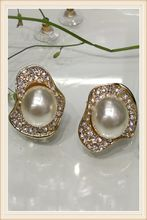 2017 fashion jewelry earring irregularity pearl Design Style Jewelry Alloy 18k Plated characteristic earring stud