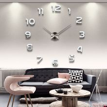 Wholesale-Home DIY decoration large quartz Acrylic mirror wall clock Safe 3D Modern design & Fashion Art decorative wall stickers Watch