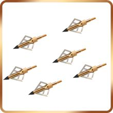 Gold/Black Hunting Broadheads 100Grain 3 Blades Steel High Quality Arrow Heads For Compound Bow And Crossbow Arrowheads