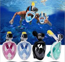 Silicone diving mask mask snorkel suit swimming mirror anti - drowning swimming mask