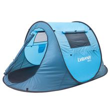 2 Man Outdoor Camping Tent Family Hiking Party 1S Quick Automatic Opening Tents Double Door Double Windows Casual Waterproof Beach Tent Sale