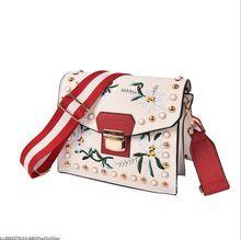 Fashion Women Leather Messenger Bag Flower Handbag Ladies Small Crossbody Bags Women Famous Brands Rivets Designers Shoulder Bags
