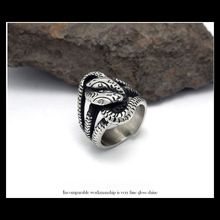 Men's Vintage Snake Shape Stainless steel Rings Punk 316L Titanium Rings Jewelry Accessories