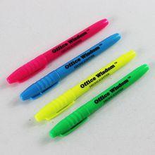 Cheap Multi colored Promotion Highlighter Pen,plastic highlighter fluorescent pen