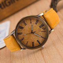 Wholesale Leisure Denim Canvas Strap Wrist Watch