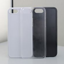 white soft TPU + PC hybrid phone case