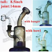 factorys Pink Bong! Black color electronic cigarette matrix purple glass water pipe bong smoking glass bong oil rigs oil burner dab rig pipe