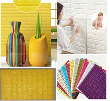 baby protect and water proof 3D foam Mural wall panels/poster easy clean 3D Brick wall board