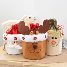 Christmas Stocking Santa Claus Snowman gift bag kids Exquisite xmas decoration candy Apple bag bauble Christmas tree ornaments supplies
