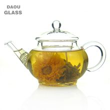 250ml Heat-Resisting Clear Pyrex Small mini Glass Teapot Coffee Tea Pot Set flower tea Kettle with handle and Lid