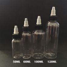 E Cig Plastic Dropper Bottles With Twist Off Caps 30ml 50ml 60ml 100ml 120ml Pen Shape Unicorn Bottle Empty Pet Bottles For E-Liquid