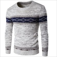 Autumn Winter Men's Sweater Fashion Knitted Pullover Wan Hao Round Neck V Neck Garment Warm Comfortable 6 Designs M-2XL