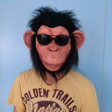 X-MERRY Chimp Monkey Mask Gorilla Ape Bruno Mars Lazy Song Animal Primate Fancy Dress