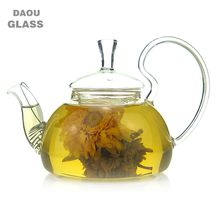 China kongfu small mini glass teapot,250ml, design of the lid to prevent broken,Blooming Tea,flower tea,Special teapot