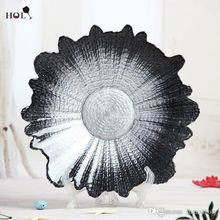 Hot sale home decor wedding decorative charger plate, dinner glass chager plate