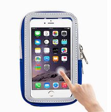 For iPhone Universal Sports Armband Gym Pouch Running Jogging Arm Band Case Pouch Holder Bag Mobile Phone Large Bag Reflective Zipper Case
