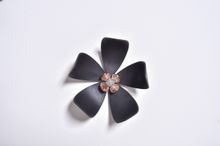 Flower 3D Wall Stickers Black color(10pcs/box) (black)