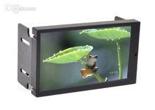 High Brightness 6.95 Inch 2 DIN VGA Touch Screen LED Monitor with AV2 Reverse Camera First for Car PC Mini Pc