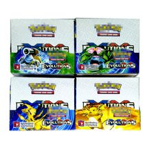 Trading Cards Games Sun&Moon Evolution Version 4 Styles Anime Pocket Monsters Cards Toys Super Heros 324pcs/lot=32bags=1box Playing Cards
