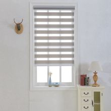 Zebra Blinds Double Layer Roller Blinds Translucent Curtain Custom Made Shade for Living Room Bedroom GY01-007
