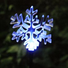 LED lighting outdoor Garden Decorative Solar Garden Stake Light led lighting garden stake with color changing clear acrylic snowflake