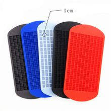 Ice cube mold 160 grids square shape silicone ice tray diy creative fruit ice cube maker bar kitchen