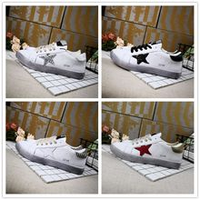 2018 High quality Golden Goose Uomo Donna Designer Sneakers Black Silver White Red Star Casual Shoes Women Luxury Superstar trainer 35-39