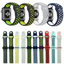 42mm 38mm S L size cheap rubber Silicone Colorful wrist band for Apple Watch bands Strap Sports Bracelet for apple iwatch Series 2&1