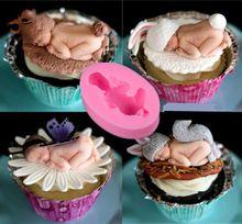 Baby sleeping baby fondant cake mold jelly mold liquid silicone mold handmade soap baking tools