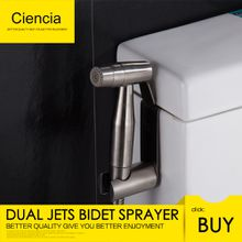 Ciencia Stainless Steel Bathroom Handheld Bidet Shattaf Sprayer Transform Toilet into Spray Bidet