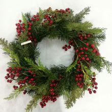 "Alldeco 22""Brand New Berry Christmas Wreath"