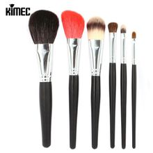 Special 6pcs Makeup Brush Set In Multicolor Hair Mainly Apply For Loose Powder Face Liquid Foundation Blush And Eye Beauty Cosmetic Kit