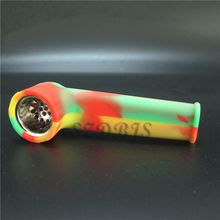 Silicone Creative Smoking Pipe Glass Water Pipes Acrylic Bongs Tabacco Shisha Pipe water pipe DHL Free Shipping