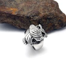 Men's and Women Vintage Owl Shape Stainless steel Rings Fashion 316L Titanium Rings Jewelry Accessories
