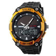 original brand black colour wrist watch,solar power analog digital watches