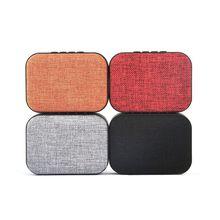Fabric Art Square Bluetooth Speaker Wireless Cloth Loudspeaker Altavoz Radio FM
