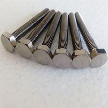 high quality DIN933 titanium hexagon head bolts/screw for hot sale