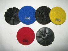 "3"" x9mm diamond Concrete Metal bond floor grinding pad China factory"
