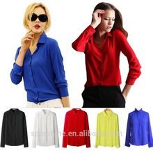 Office tops women blouse chiffon shirt design fashion blouse