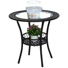 Tempered glass tea table a few round tea table