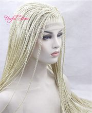 african american braided wigs box braids synthetic lace front wigs kanekalon synthetic wig braided wigs for black women marley twist