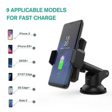 Car Phone Holder Mount Stand Support Dashboard Automatic induction cell phone holder for iPhone X,iPhone 8/8plus Samsung S8 S7 edge Note 5