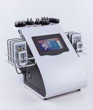 New Ultrasonic Liposuction 40K Cavitation Radio Frequency Vacuum Bipolar RF Machine 8 Pads LLLT LipoLaser Slimming Beauty Equipment