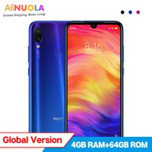 "Global Version Xiaomi Redmi Note 7 Note7 4GB 64GB Mobile Phone Snapdragon 660 Octa Core 4000mAh 6.3'' Full Screen"" 2340*1080 48MP+5MP"