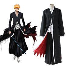 Kurosaki Ichigo cosplay costumes kendo clothes Japanese anime BLEACH clothing Masquerade/Mardi Gras/Carnival halloween costumes