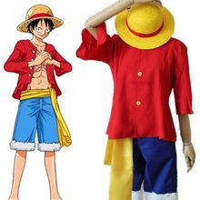 Ten years later Monkey D. Luffy cosplay costumes Japanese anime ONE PIECE clothing Halloween/Masquerade/Mardi Gras/Carnival costumes