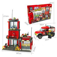 Fire trucks military small particles of children's toys puzzle toy bricks fire series 8052